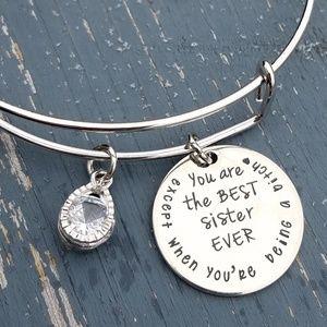 Jewelry - Sister bracelet,  charm bracelet, bangle, sisters